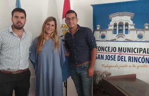Con el concejal Andrés Soperez en el municipio de Rincón