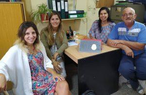 Visitando la escuela técnica San Agustín N°387 reunida con sus directivos