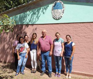 Presidente Carlos Schnell en la comuna de Cululú